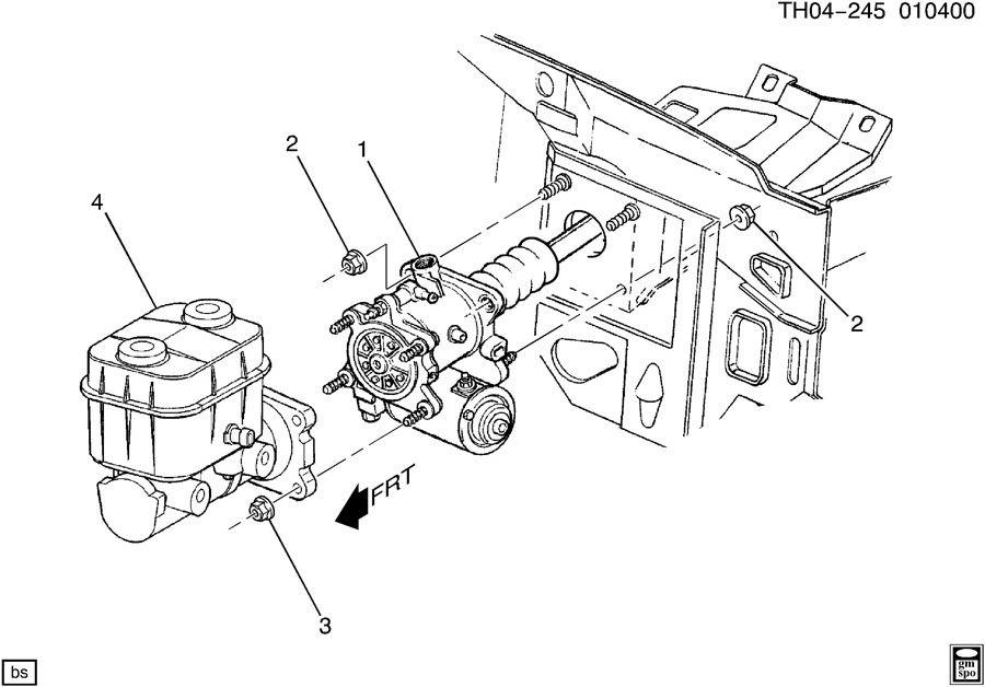 12377114  GMC Booster Hydraulic power brake booster