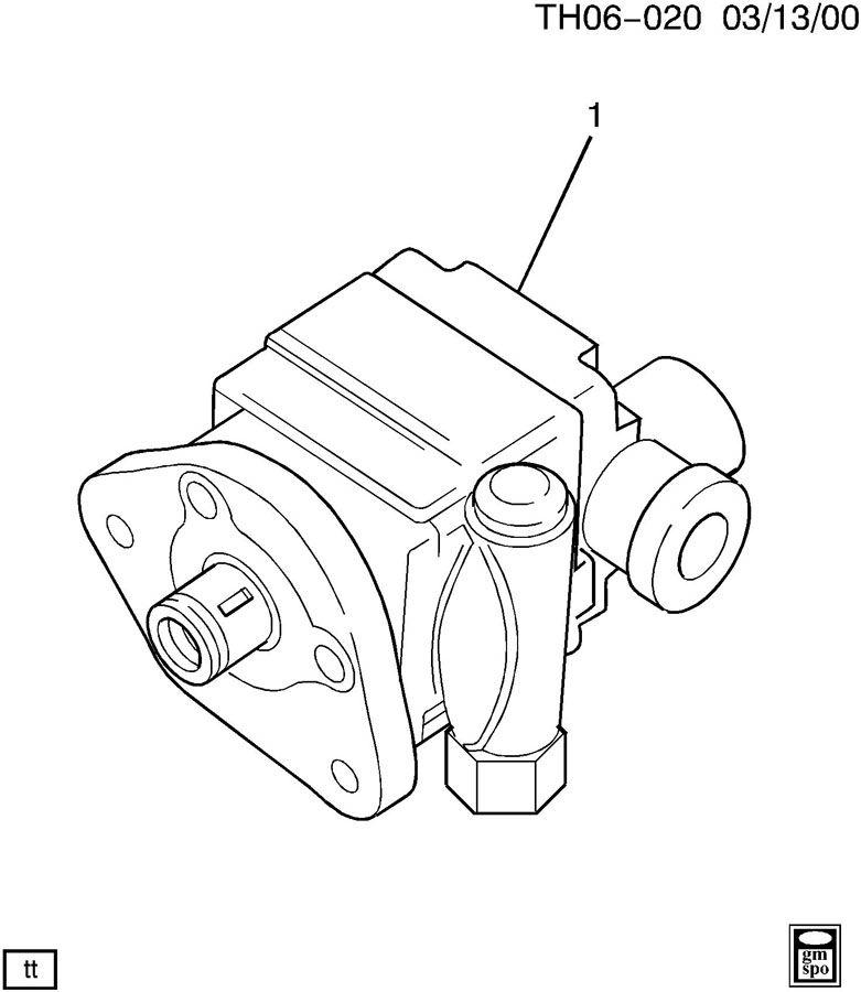 15627989 gm pump power steering kys cfm kuv. Black Bedroom Furniture Sets. Home Design Ideas