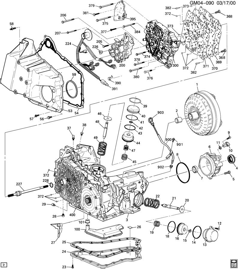 Diagram AUTOMATIC TRANSMISSION for your Oldsmobile