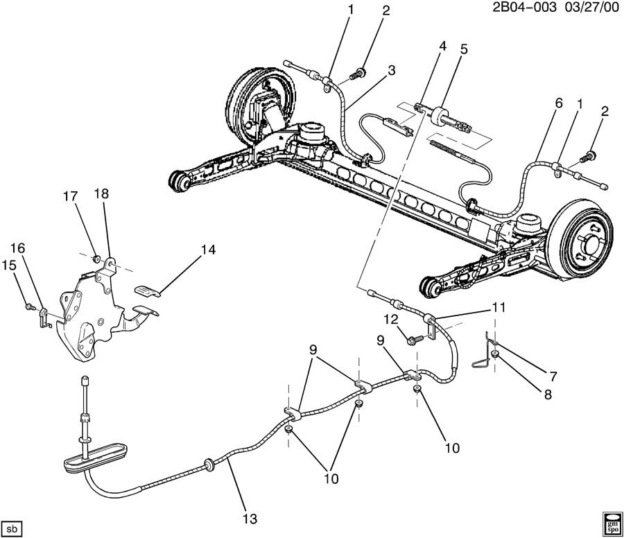 2003 pontiac aztek exhaust diagram