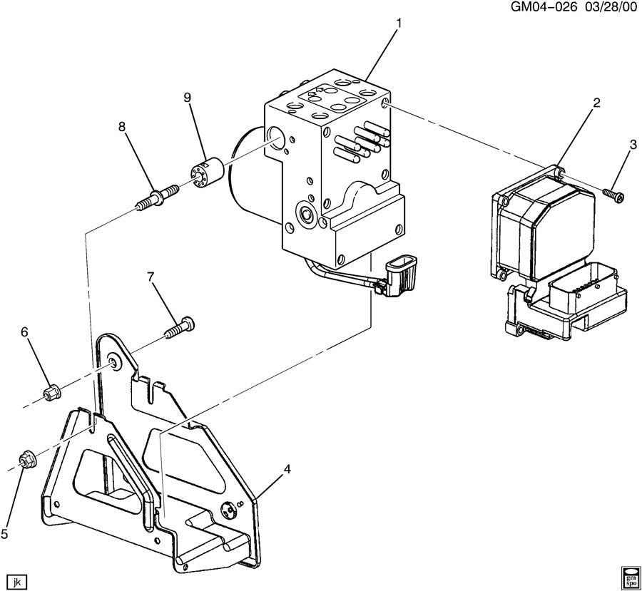 service manual  2004 buick rendezvous rear break
