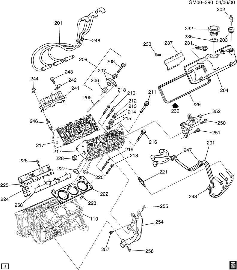 engine asm 3 4l v6 part 2 cylinder related parts