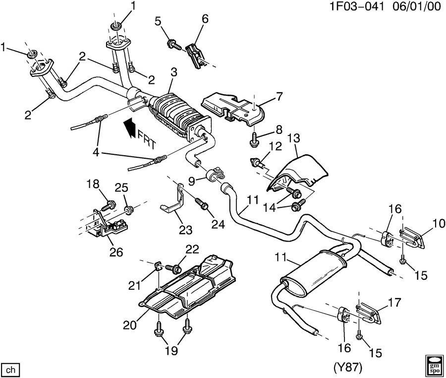 Chevrolet Camaro Muffler  Exhaust  Exhaust Tail Pipe