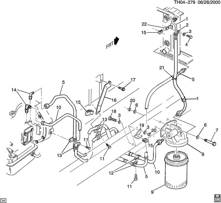 Gmc C6500 Adapter  Transmission  Adapter  Trans Fluid Fltr
