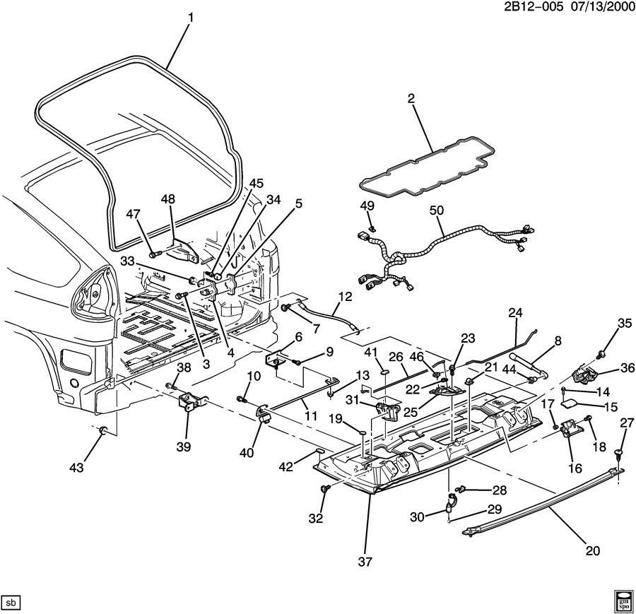 2006 cadillac srx tailgate hardware