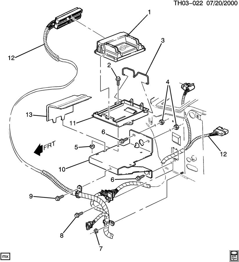 p.c.m. module & wiring harness-powertrain control gm powertrain control module wiring harness gm body control module wiring diagram