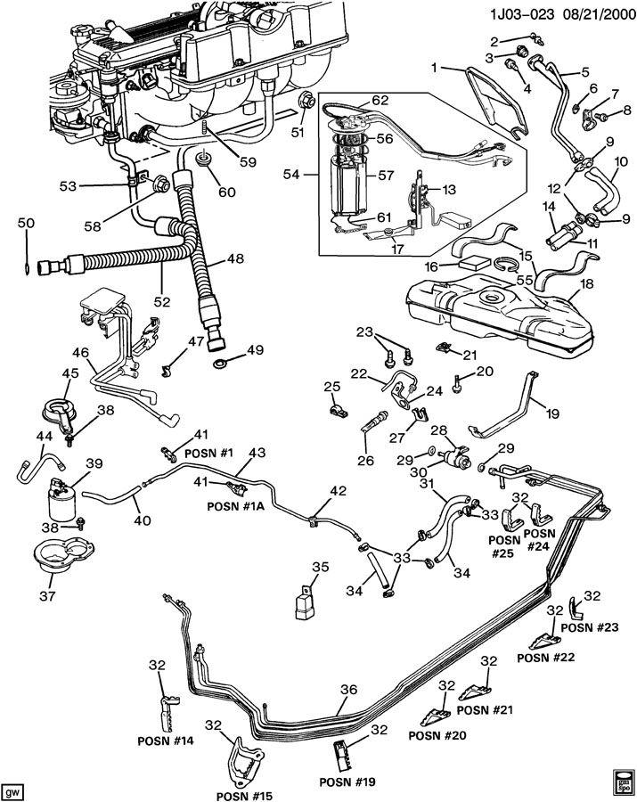 1991 chevrolet lumina apv fuel supply system