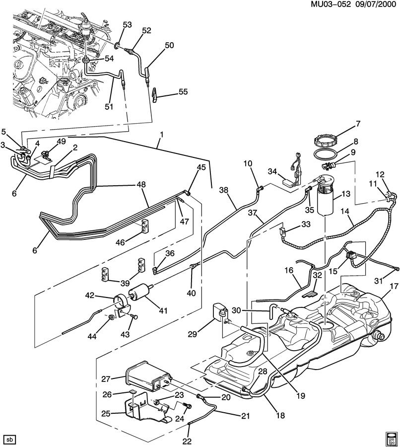2000 Chevy Blazer Fuel System Diagram