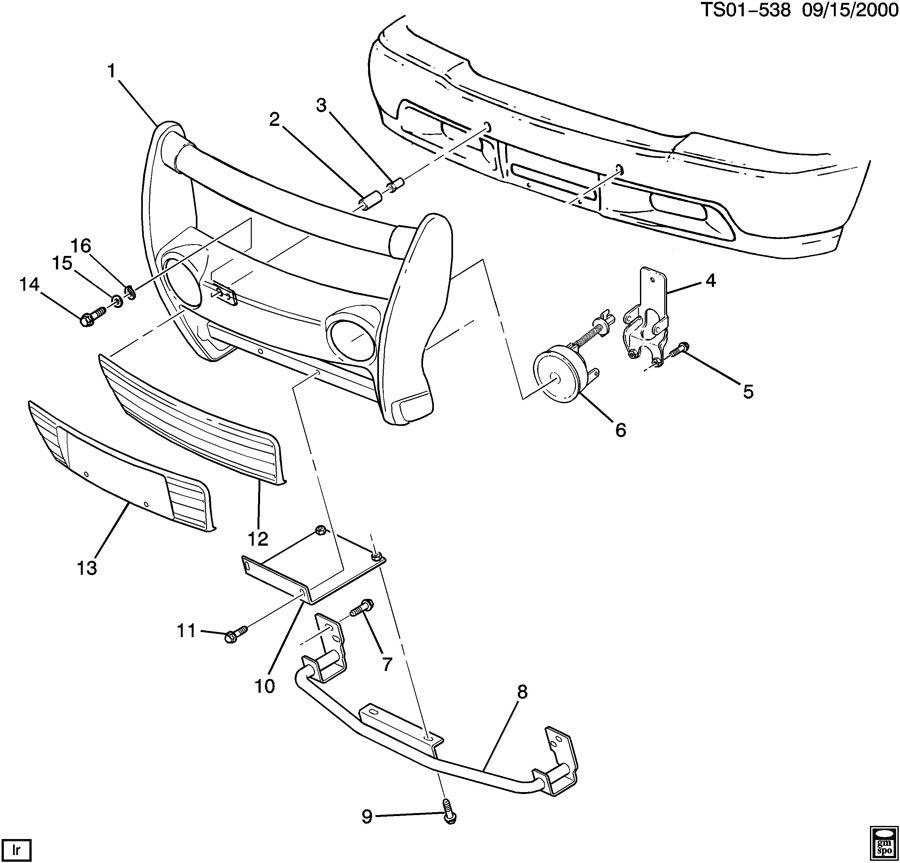 Radiator Diagram For A 2000 Gmc Jimmy