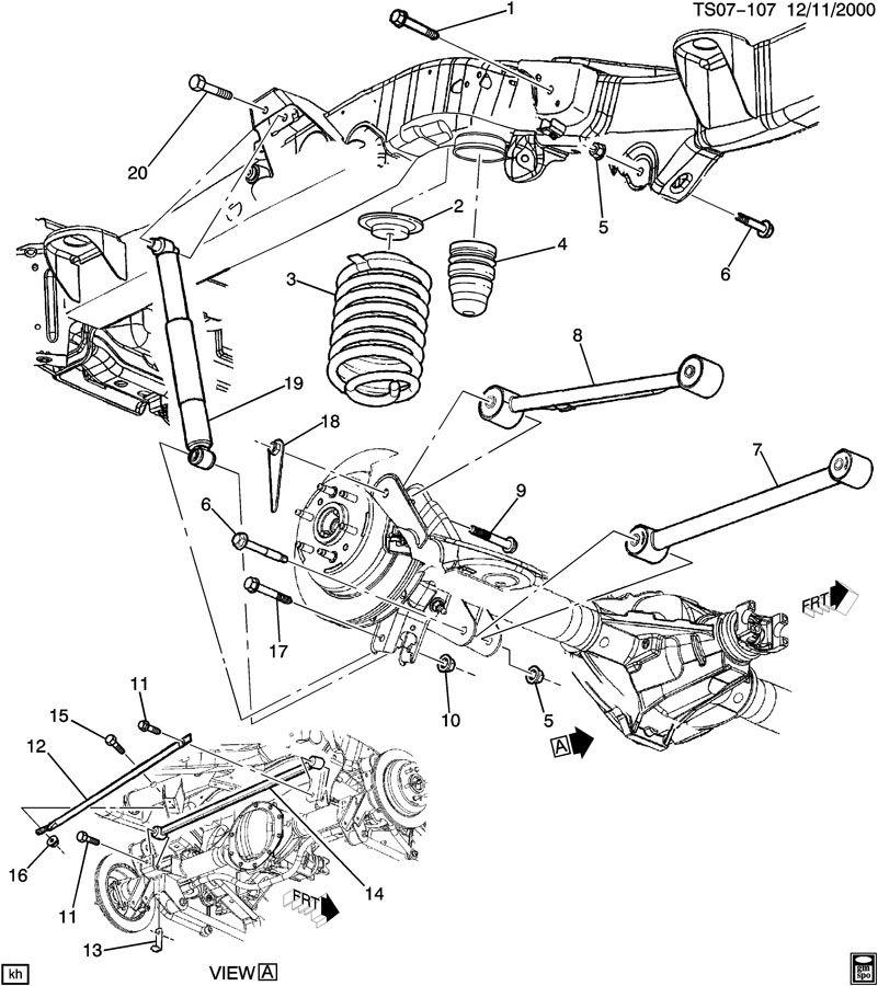 2005 Chevrolet Trailblazer Spring  Rear  Spring  Rr Aux