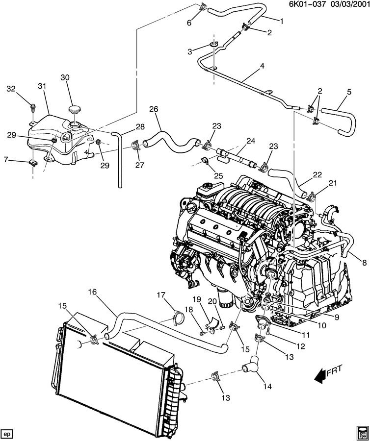 783306 Location Heater Hoses 2001 Deville on Northstar 4 6 V8 Engine Diagram