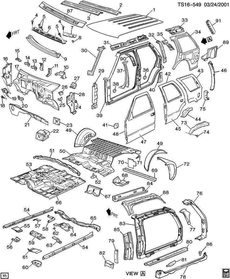 Chevy Trailblazer Body Parts Diagram