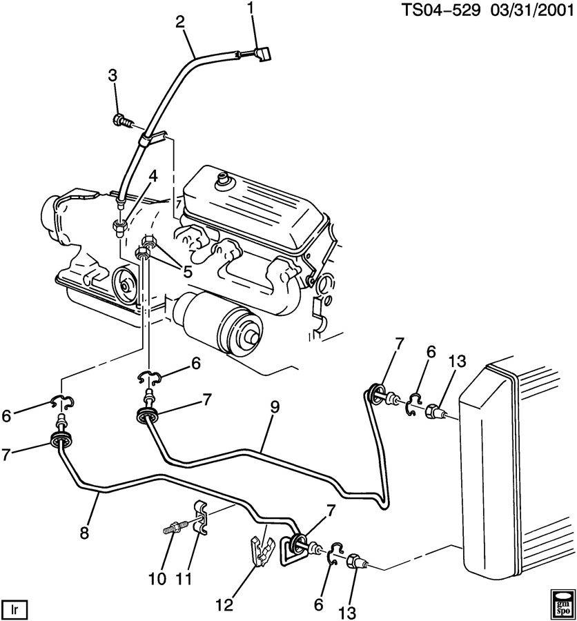 Chevrolet Pickup Clip  Transmission Oil Cooler  Retainer
