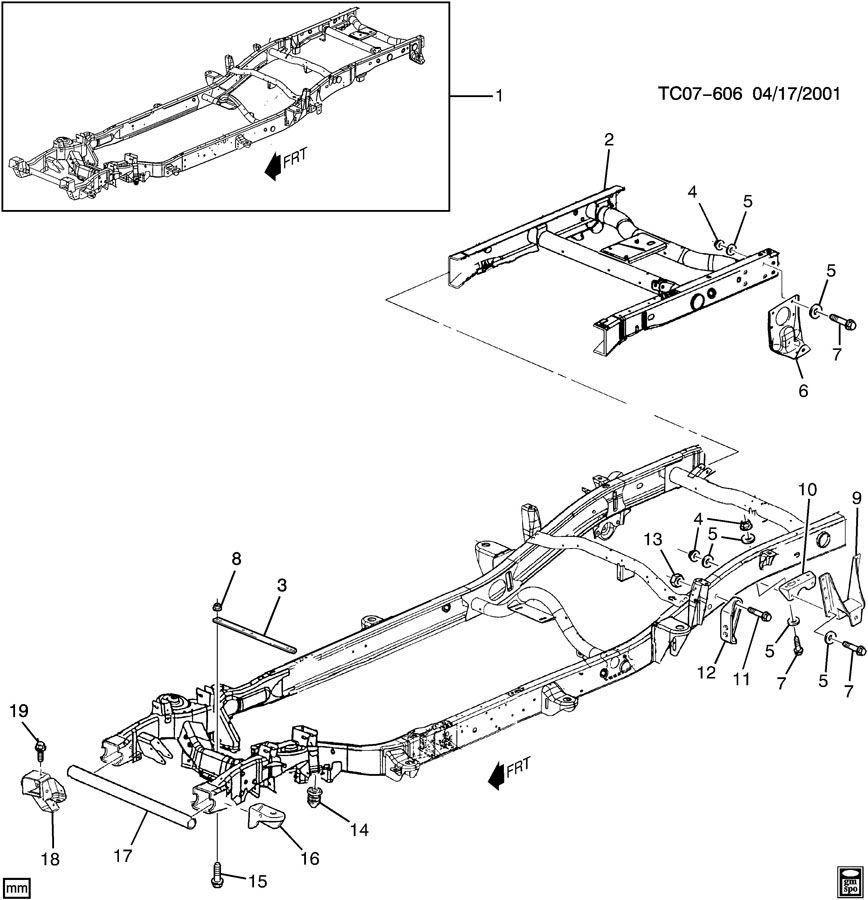 Chevrolet Silverado Frame Kit  Chassis  Frame Kit  Rr Half