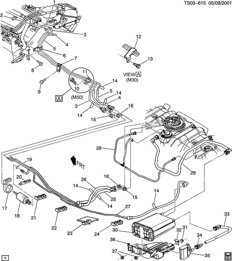 2003 Chevrolet S10 Valve  Fuel Tank Evaporator  Purge Control  Valve  Evap Emis Cnstr