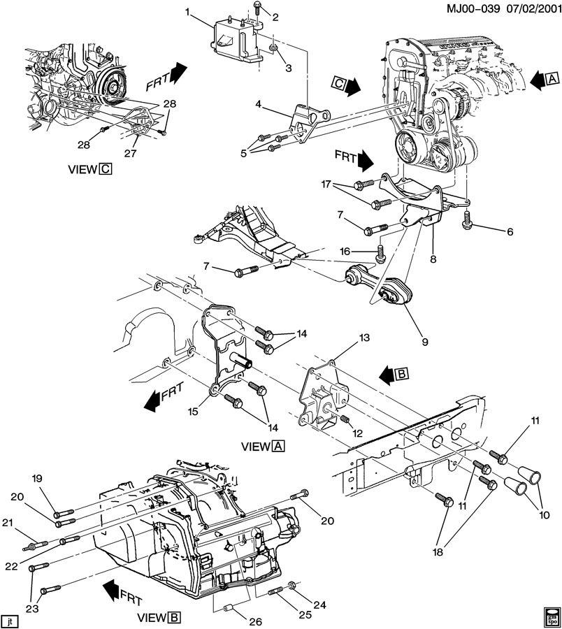 96 pontiac sunfire engine diagram