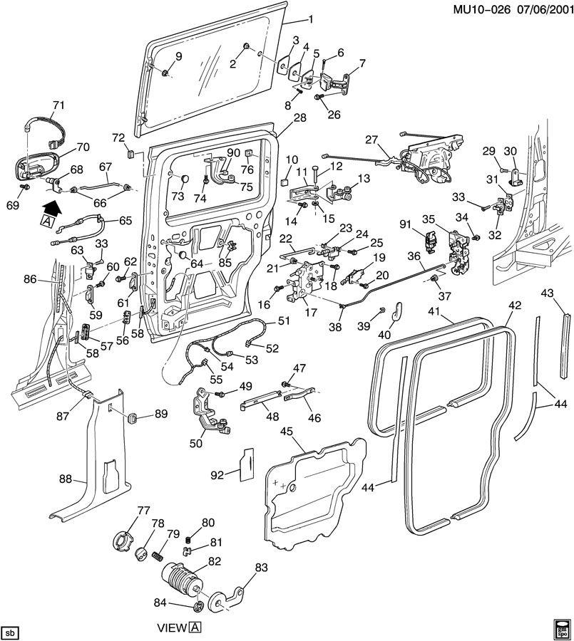 Door Hardware Rear Sliding