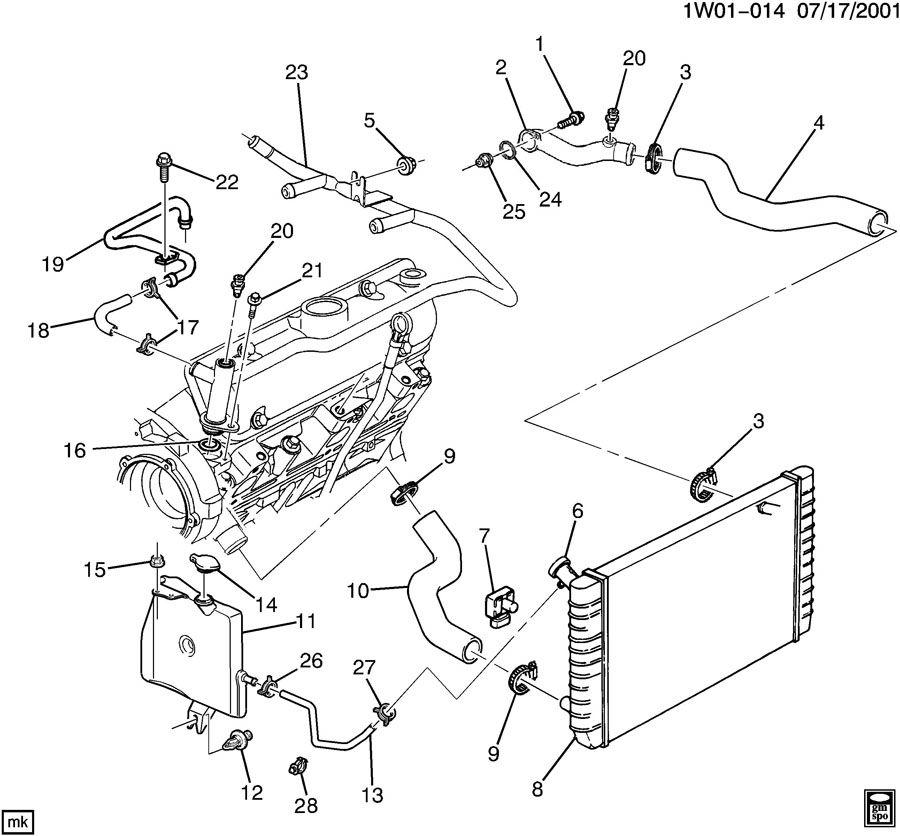 Diagram  3 4l V6 Engine Gm Cooling System Diagram Full