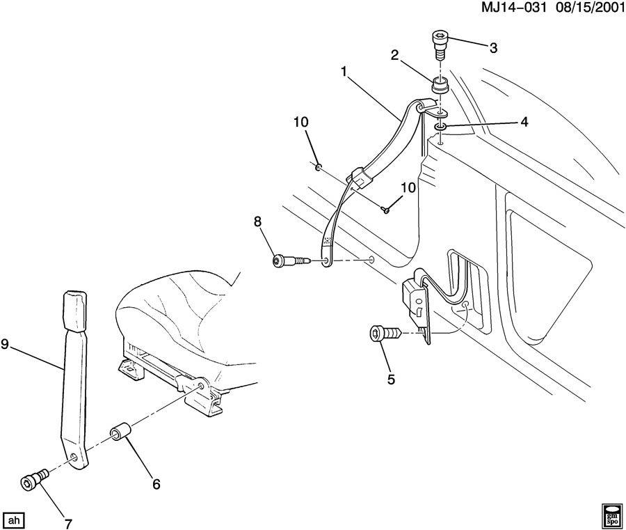Chevrolet Cavalier Belt Kit  Seat Belt  Belt Kit  D  Seat