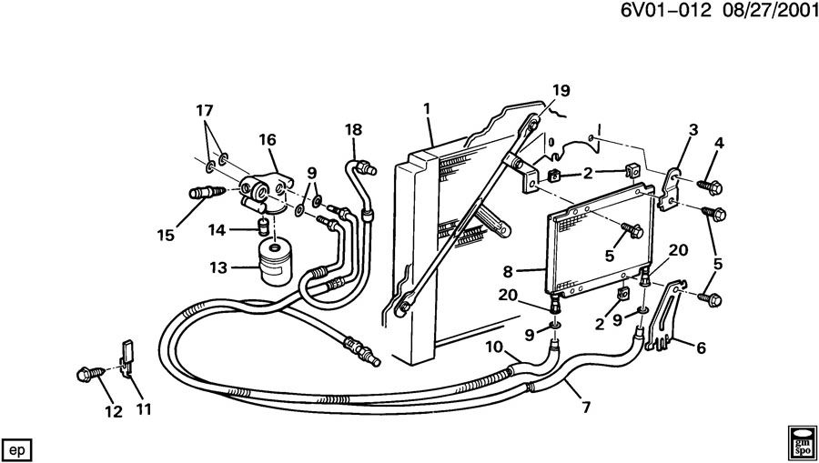 cadillac allante engine oil cooler lines
