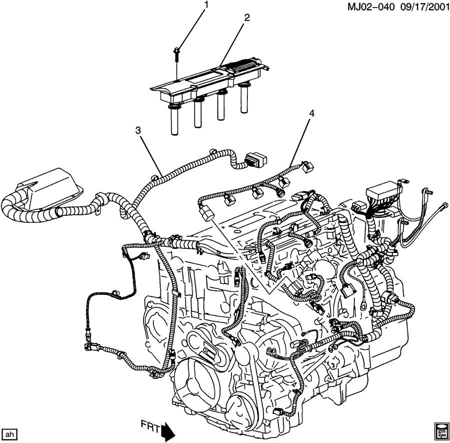 2003 Chevrolet Cavalier Base 2dr Connector  Chassis
