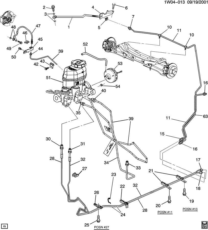 1999 Chevrolet Silverado 1500 Brake Line Diagram