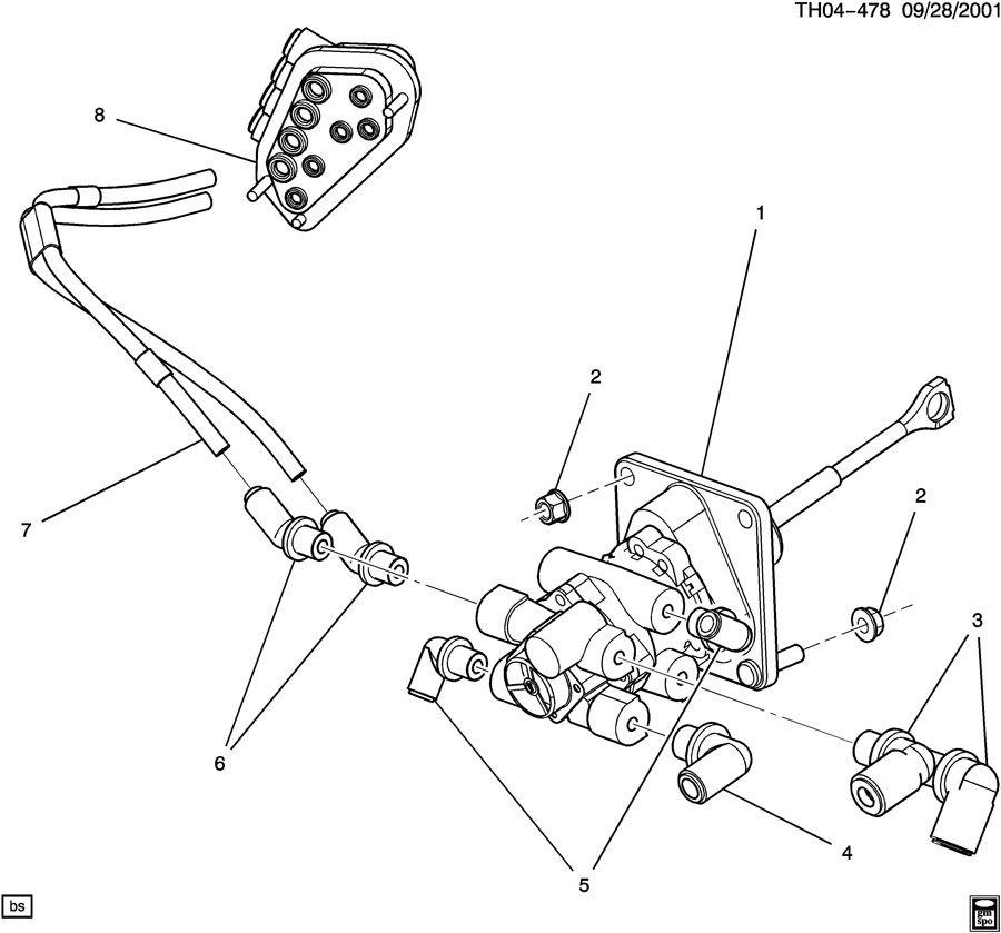 gmc c8500 air brake application valve  u0026 related parts