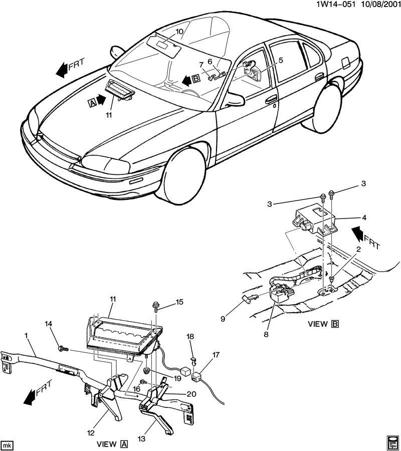 1995 chevrolet lumina apv inflatable restraint system