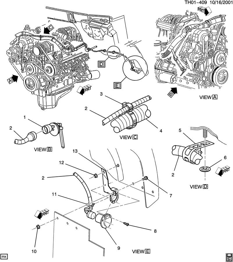 schematic of a 2002 duramax sel engine