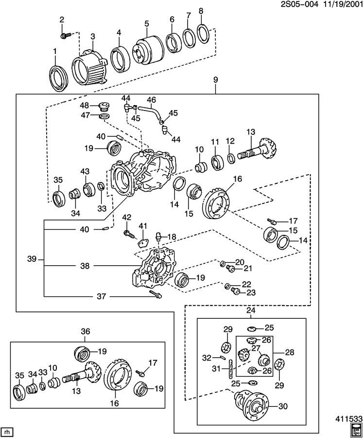 Causes and Fixes of Drivetrain Windup  |All Wheel Drive Transfer Case Diagram
