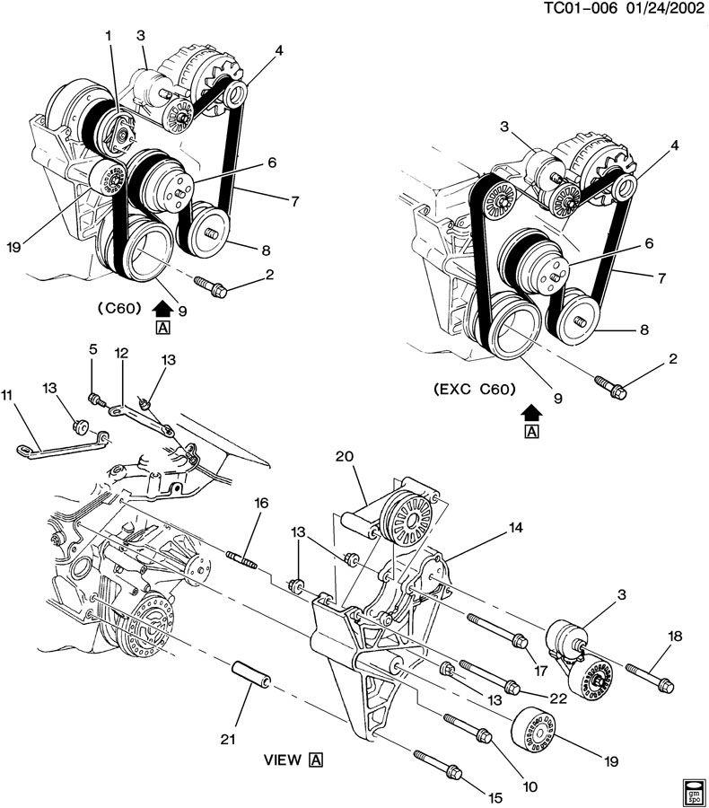 1993 Gmc Yukon Camshaft: GMC Pulley. Engine Crankshaft And Camshaft
