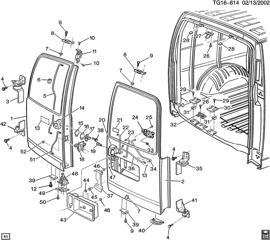 chevy express rear door latch diagram chevy express window diagram