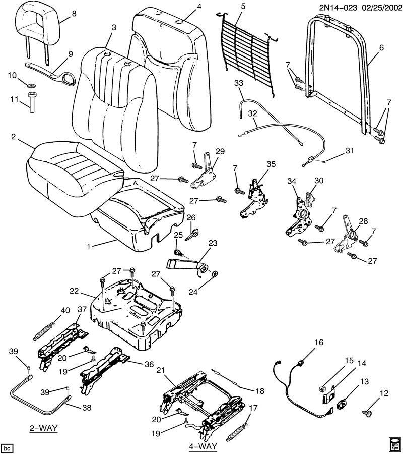 Pontiac Grand Am Seat Back Recliner Adjustment Handle