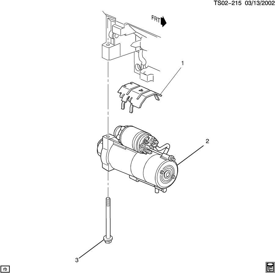 starter motor mounting  lh8  5 3l   lh95 3l
