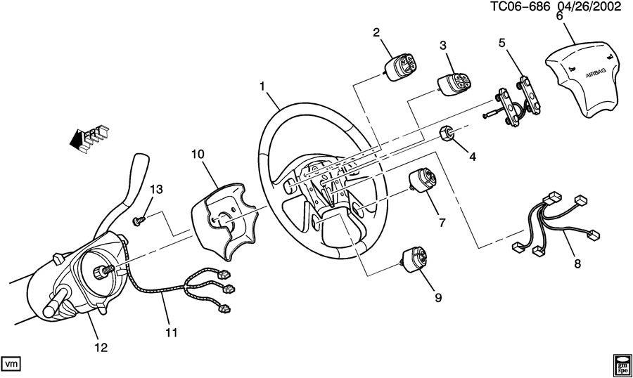 Chevrolet Silverado Wheel  Steering  Wheel  Strg Ebony   Wredundant  Controlsstw  Savana