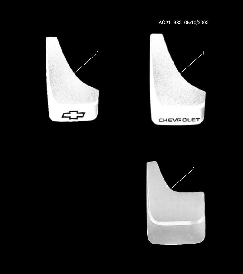Diagram GUARD PKG/SPLASH for your 1999 Cadillac Seville Base 4DR