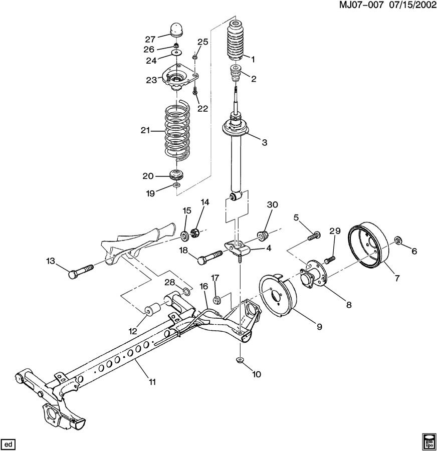 1997 Chevrolet Cavalier Suspension Rear