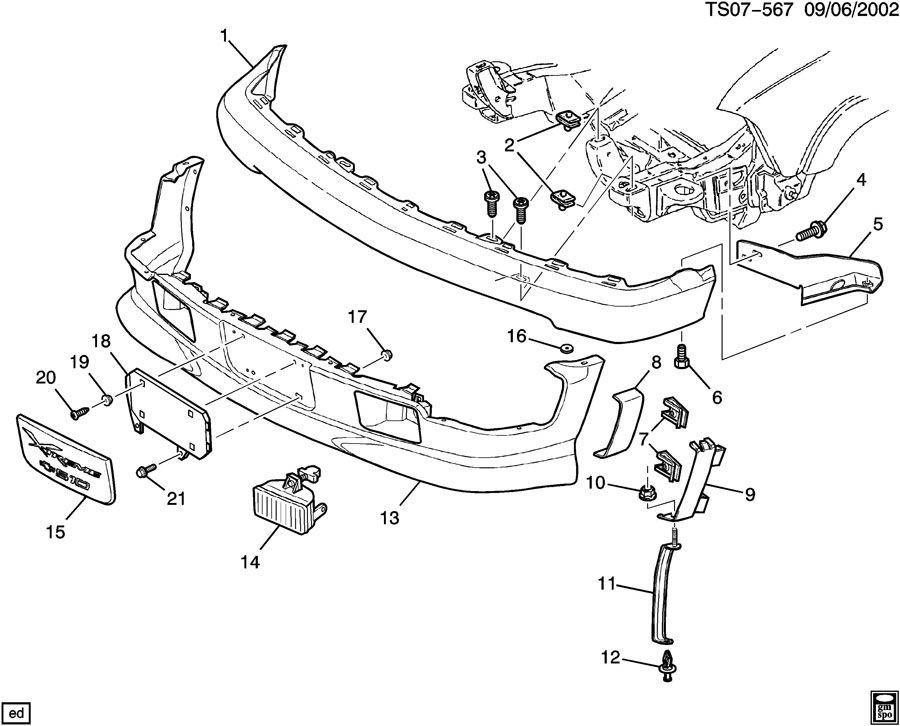 Chevrolet S10 Bumper Face Bar  Front