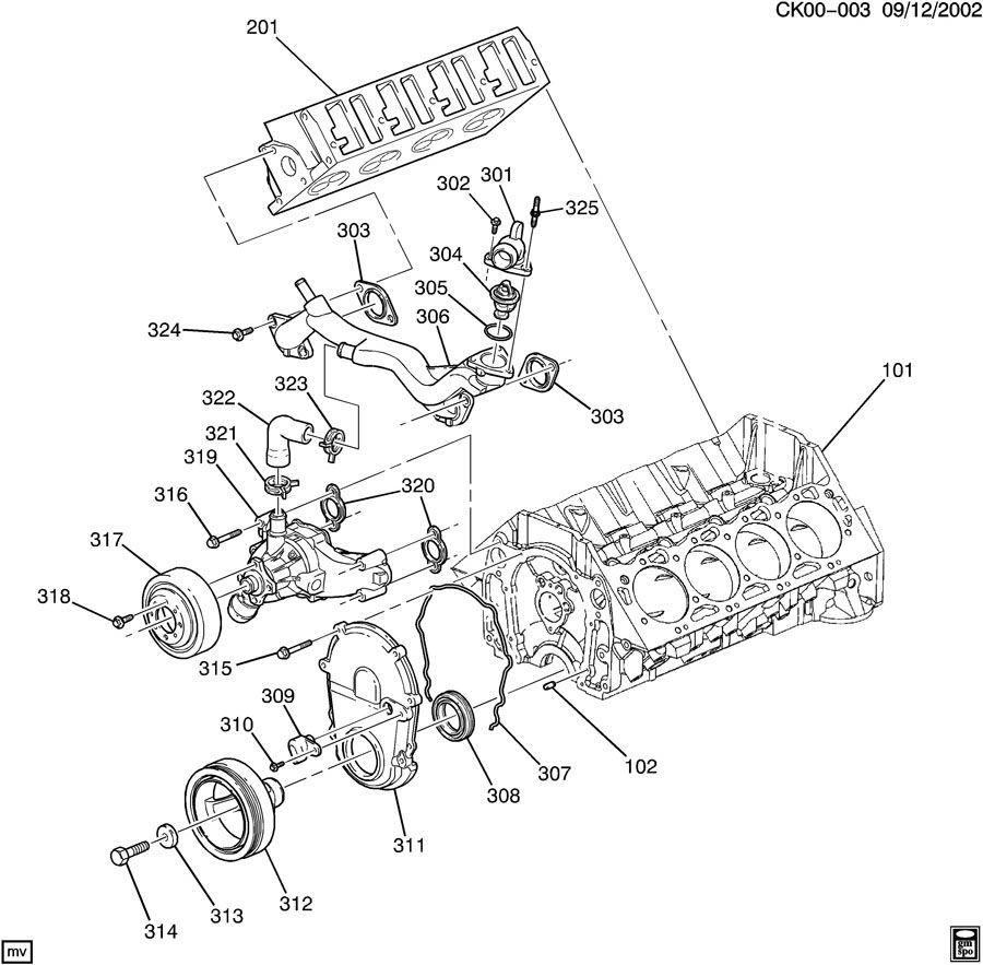 2006 Chevrolet Tahoe Hose  Engine Coolant By