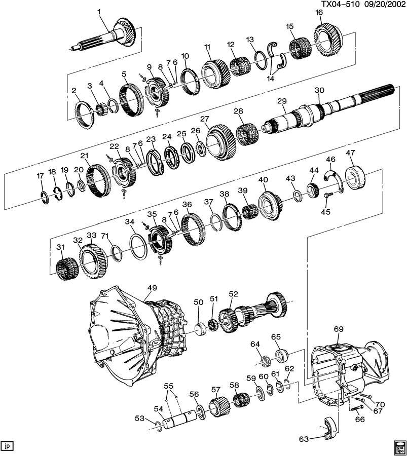 toyota w56 transmission parts diagram
