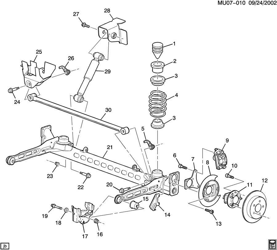 chevrolet venture suspension  rear