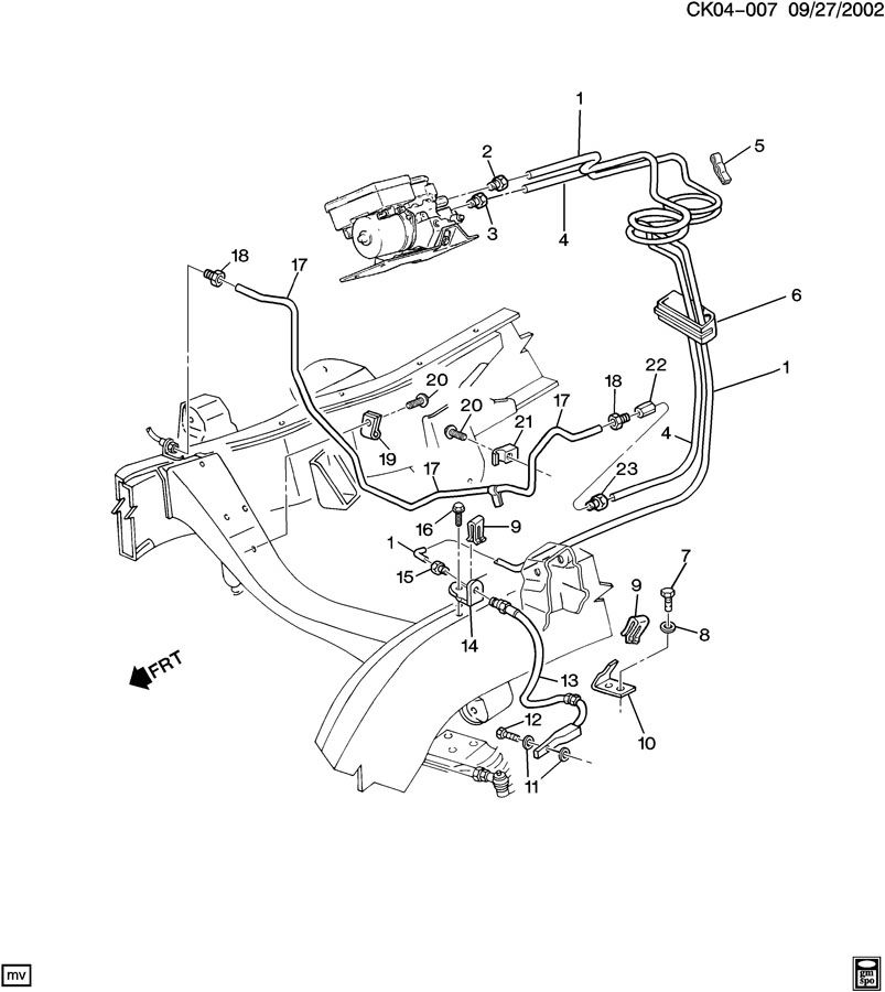Chevrolet K2500 Clip  Hydraulic Brake Pipe  Systempower