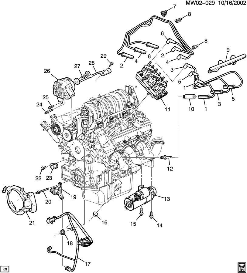 1997 pontiac grand prix harness  engine wiring  harness  elek icm wrg