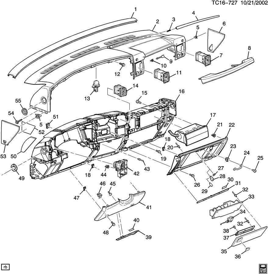 2003 chevrolet silverado instrument panel  u0026 related parts