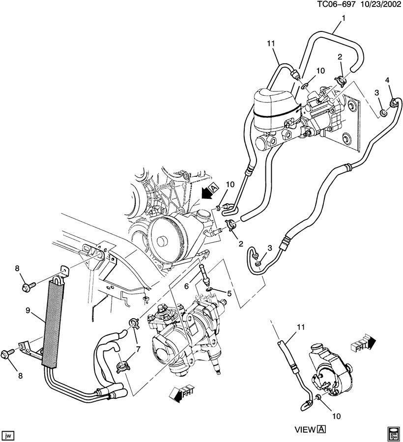 Gmc Sierra Hose  Hydraulic Power Brake Booster  Hose  P  B