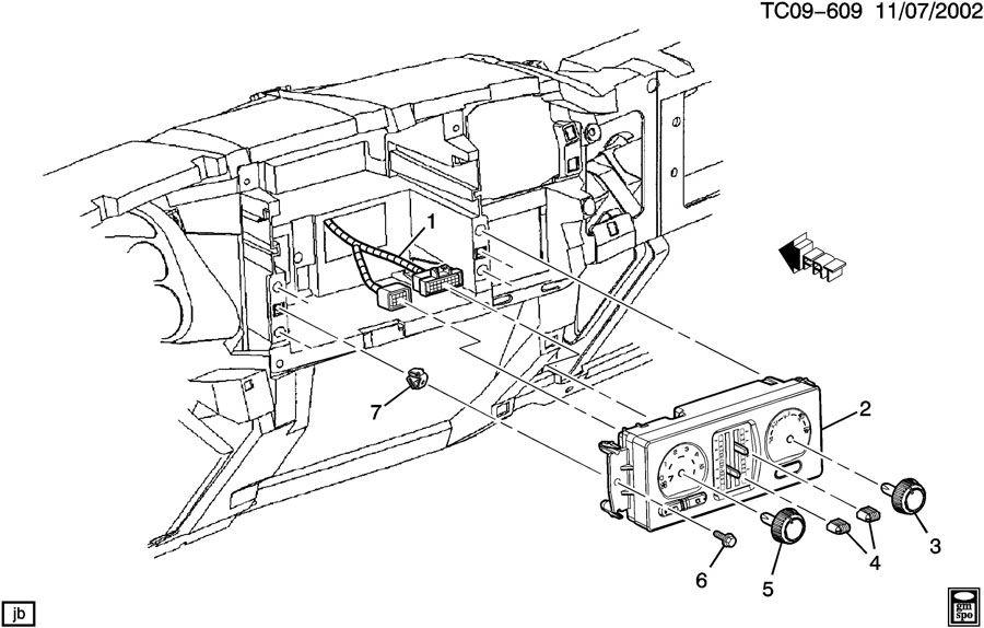 21997350  c  instrument panel  control  htr  u0026 a