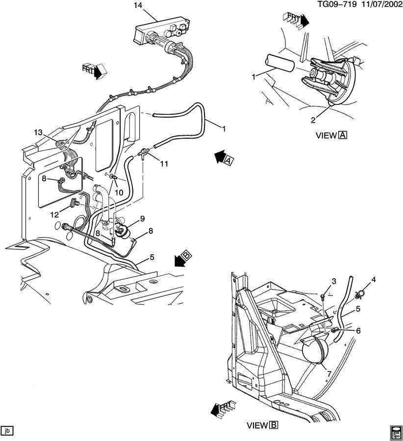 2004 Gmc Savana Harness  Air Conditioning  A  C  Vacuum