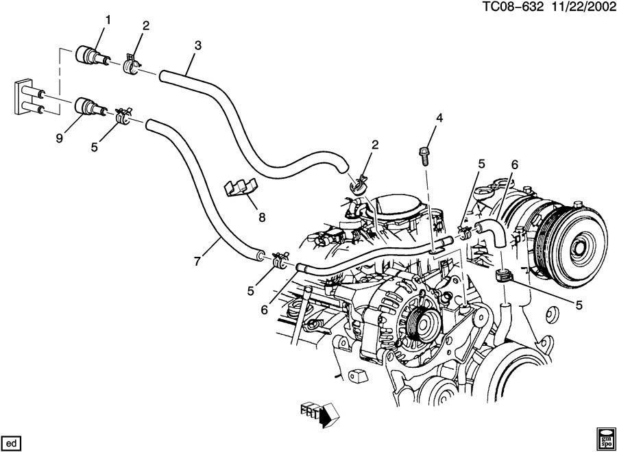 15151875 chevrolet connector engine coolant recovery 2008 gmc door handle diagram