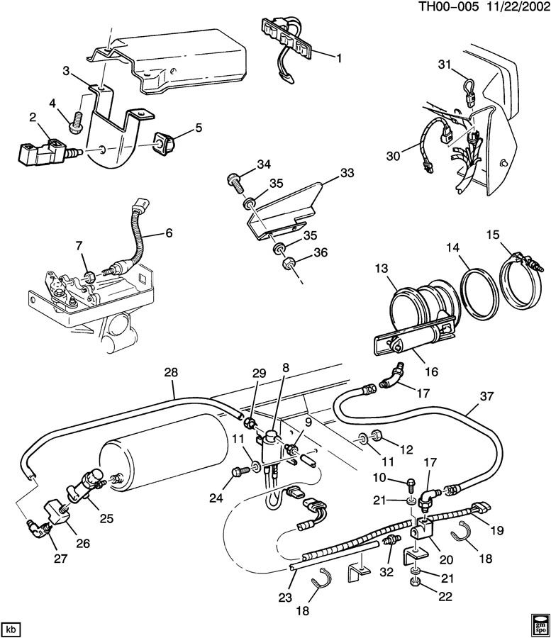 1994 gmc safari engine diagram