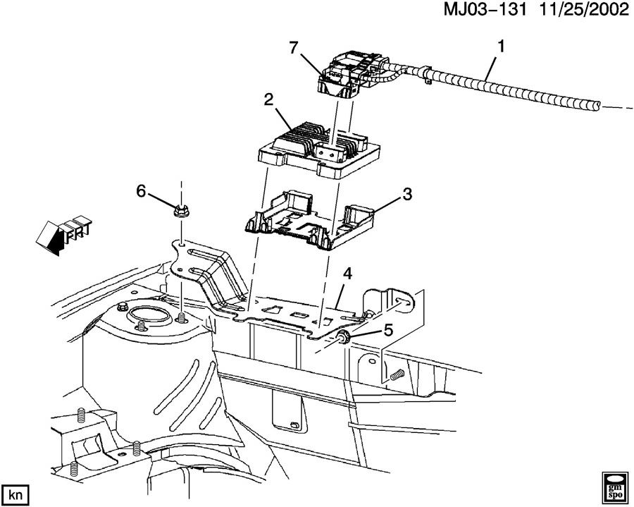 2002 Pontiac Sunfire P C M Module Amp Wiring Harness